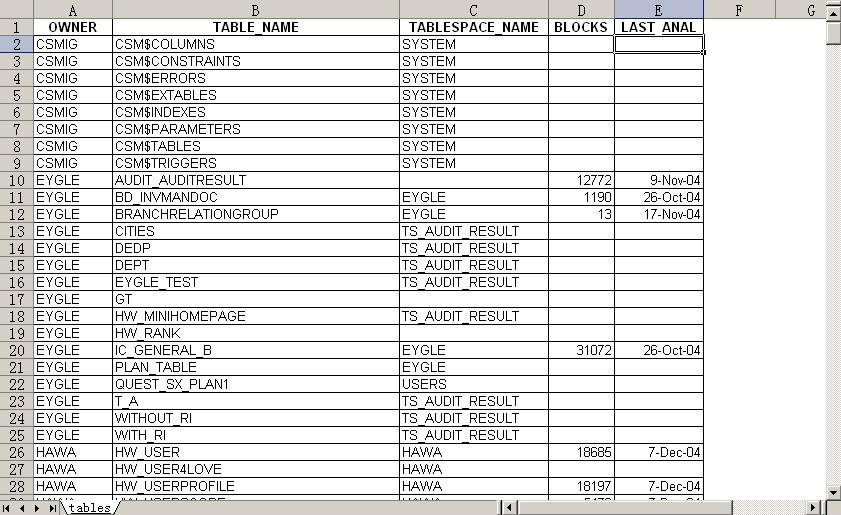 Excel输出