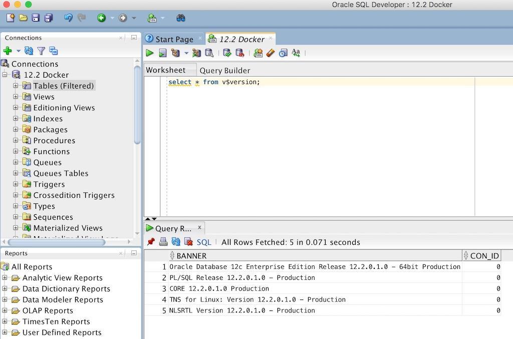 在Mac上通过Docker部署Oracle Database 12 2版本- Oracle Life
